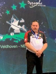Timo bei der Ehrung als Vize-Europameister in 10-Ball